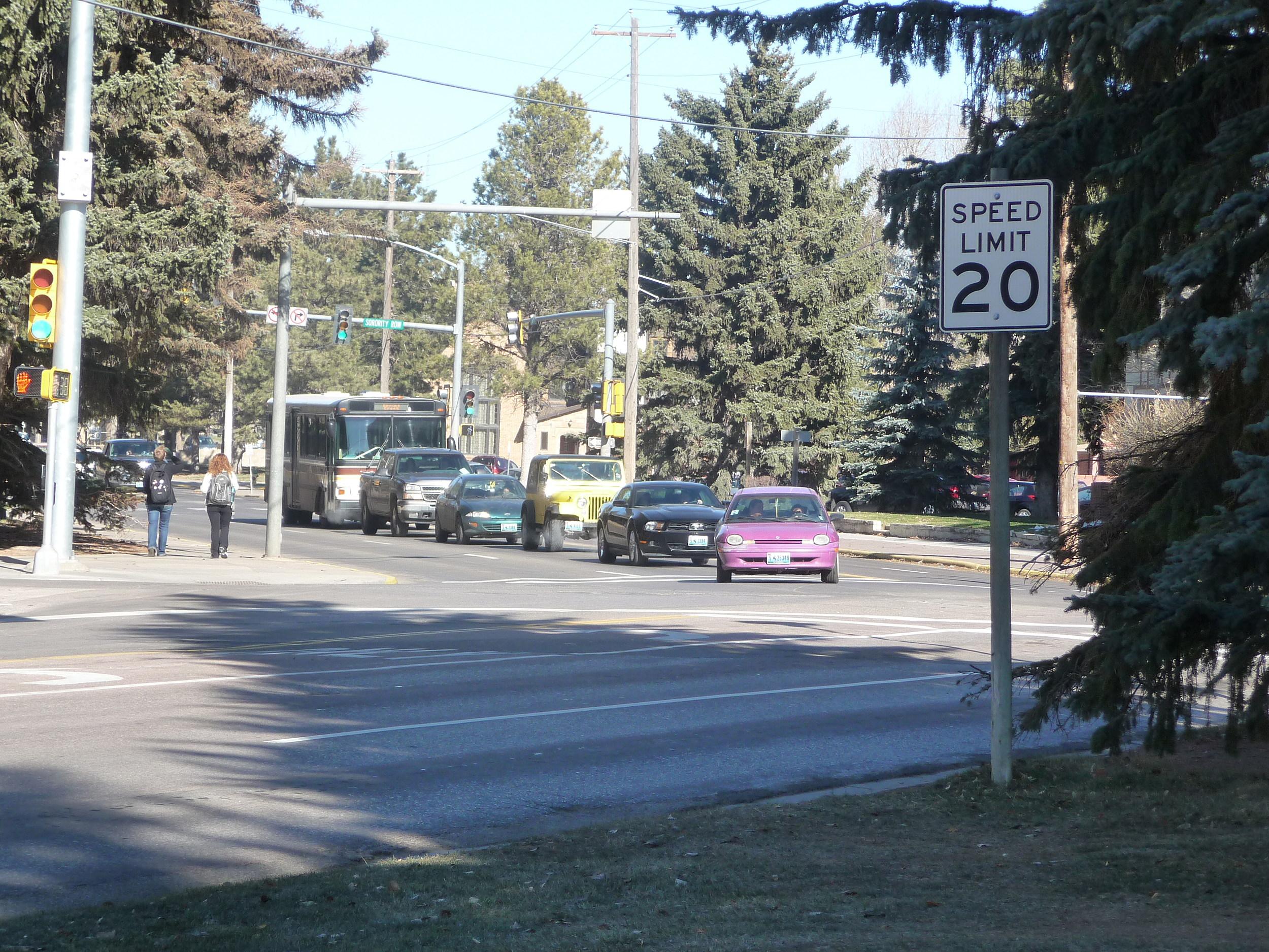 15th Street, Laramie, Dorms, Cross Walk