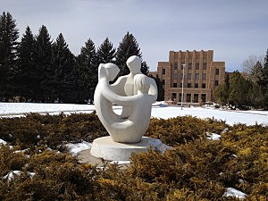 Wyoming Nuclear Family Statue