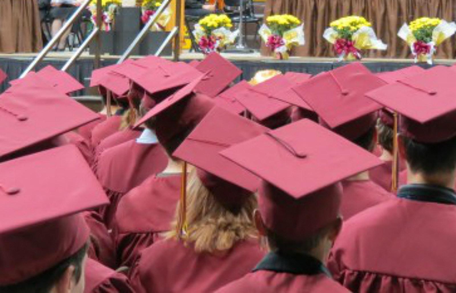 Laramie High School, graduation caps, gowns